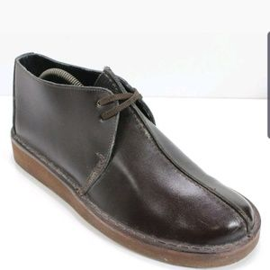 LL Bean Brown Leather Chukka Ankle Boot Mens 8.5